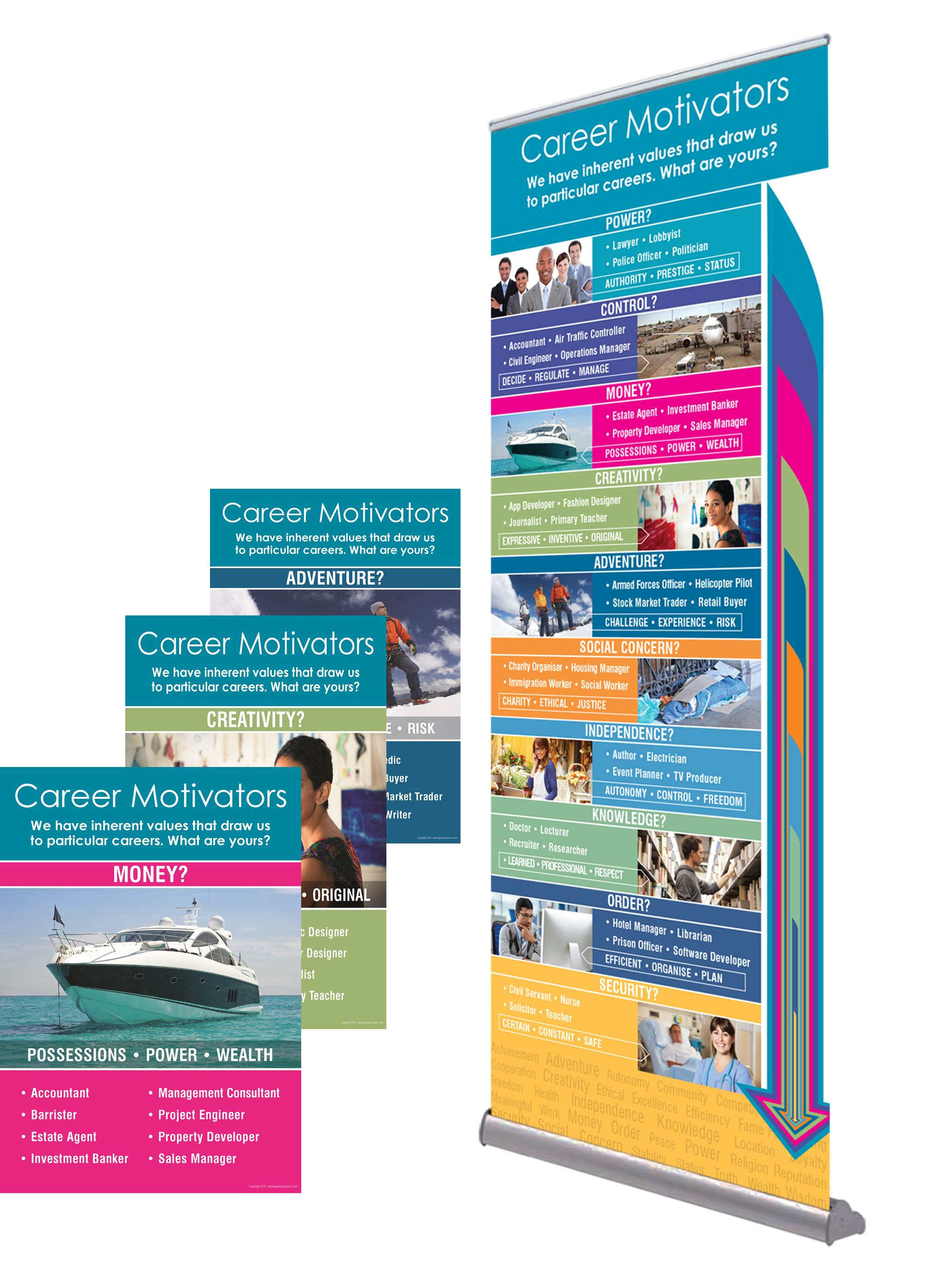 Career Banners and Popups